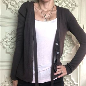 H&M taupe brown sweater cardigan
